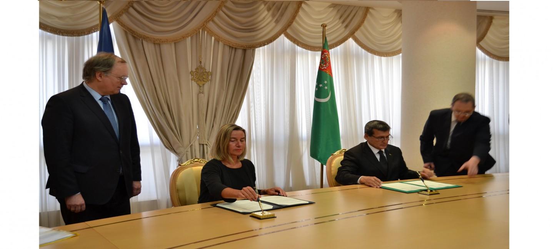 В Ашхабаде подписан документ о создании Делегации Европейского Союза в Туркменистане