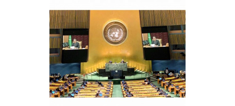 В ХОДЕ ВЫСТУПЛЕНИЯ НА ЮБИЛЕЙНОЙ 75-ОЙ СЕССИИ ГЕНАССАМБЛЕИ ООН ПРЕЗИДЕНТ ТУРКМЕНИСТАНА ПРЕДЛОЖИЛ ОБЪЕДИНИТЬ УСИЛИЯ СТРАН ДЛЯ РАЗРЕШЕНИЯ ЭКОЛОГИЧЕСКОГО КРИЗИСА